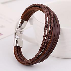 Punk Pure Handicraft Leather Bracelets 1pc 4811191