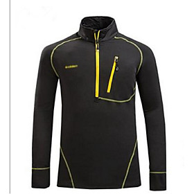 Men Outdoor Sports Collar Quick-Drying Long Sleeve Tshirt Breathable Fleece Thickening Warm Blouse Clothing 4806382