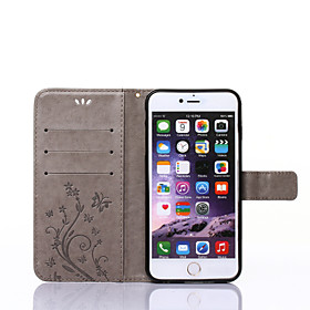 Case For Apple iPhone X / iPhone 8 / iPhone XS Wallet / Card Holder / with Stand Full Body Cases Butterfly Hard PU Leather for iPhone XS / iPhone XR / iPhone X