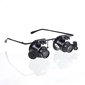 New Eyeglasses Camera 20X Magnifier Magnifying Lens Loupe Glasses Type LED Watch Repairment 4834018