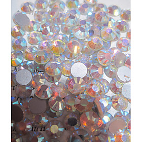 1440pcs/pack  White Colors AB Rhinestones DIY Crystal Glass Designs Nail Art  3d Decoration Diamond NC239 4866354