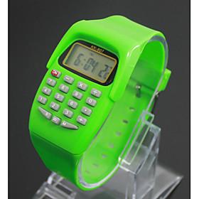 Kid's Fashion Watch Digital Watch Japanese Quartz Digital Black / Blue / Red 30 m LCD Digital Ladies Charm - Purple Green Blue One Year Battery Life