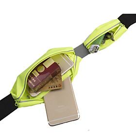 Waist Bag / Waistpack Belt Pouch / Belt Bag for Camping / Hiking Cycling / Bike Traveling Sports Bag Wearable Multifunctional Running Bag iPhone 5C Iphone 5/5S