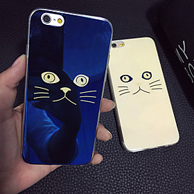Lovely Cat Beige Cat Blue Light Reflective Blu-ray Soft TPU Case Cover for iphone 6s Plus/iphone 6 Plus 4817310