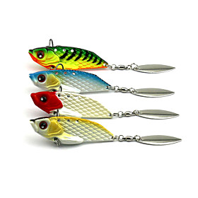 4Pieces Hengjia Metal VIB Baits/Vibration  20g 60mm Fishing Lures Random Colors 4843037