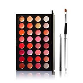32-Color Tinted Lipstick Lip Gloss Makeup Palette 1 PCS Lip brush 4816669