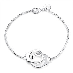 Women's Chain Bracelet Charm Bracelet - Sterling Silver Locket Fashion Bracelet Silver For Wedding Party