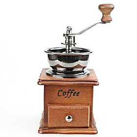 ALL BLUE High Quality Manual Coffee Machine Grinder Retro Classic Coffee Mill Vintage Wooden Hand Crank 4814467
