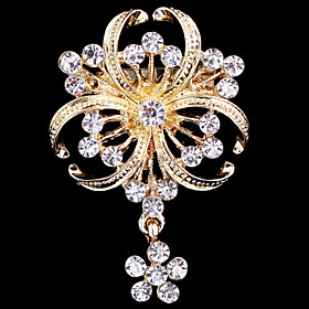 Women's Brooches - Crystal, Cubic Zirconia Party, Work, Casual Brooch Gold For Wedding / Party / Special Occasion
