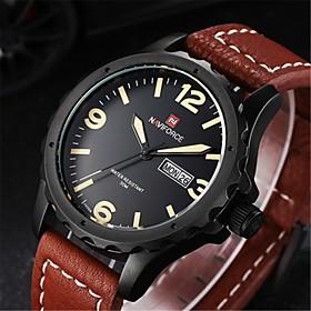 NAVIFORCE Men Sports Watches Men's Quartz Man Leather Strap Military Army Waterproof Gear WristWatch Male Relogio Wrist Watch Cool Watch Unique Watch 4853903
