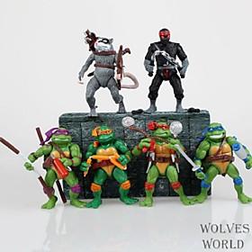 Mutant Ninja Turtles Nostalgia Edition Cartoon Figure 1 Set Anime Action Figures Model Toy 4864038
