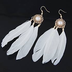 Women's Drop Earrings Feather Earrings Feather Personalized European Fashion Native American Jewelry For Party Daily Casual