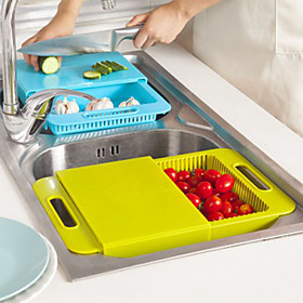 Kitchen Sink Cutting Boards Wash the Dishes to Wash Cut With The Drain Basket Chopping Block 4874979