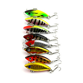 8Pieces Hengjia VIB Baits Vibration 2.75g 40mm Fishing Lures Random Colors 4843035