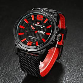 Men NAVIFORCE watch Quartz Waterproof Sports Watch Calendar Genuine Fabric Wristwatch (Assorted Color) Wrist Watch Cool Watch Unique Watch 4831321