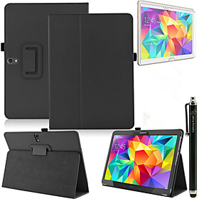 Fashion Top Quality Smart PU Leather Cover For Samsung Galaxy Tab S 10.5 T800 Tablet CaseFree Screen Protector Pen 4823365