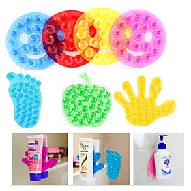 Strong Double Sided Suction Palm PVC Suction Cup Double Magic Plastic Sucker Bathroom(Random color) 4834012