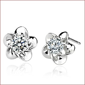 Women's Stud Earrings - Pearl, Sterling Silver, Imitation Pearl White For Wedding Party Daily