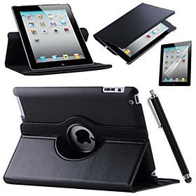 nethinden ipad 360 roterende stativ flip smarte pu læderetui til iPad luft 4853886