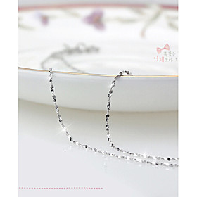Women's Chains / Necklace - Sterling Silver, Silver Party, Fashion Cute White, Silver Necklace Jewelry For Daily