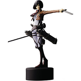 Anime Action Figures Inspired by Attack on Titan Mikasa Ackermann PVC 14 CM Model Toys Doll Toy 4851257