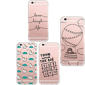 For iPhone 5 Case Ultra-thin / Transparent / Pattern Case Back Cover Case Cartoon Soft TPU iPhone SE/5s/5 4827358