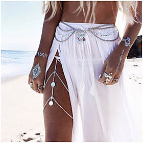 Belly Body Chain / Body Chain Ladies, Unique Design, European, Fashion Women's Silver / Golden Body Jewelry For Wedding / Casual / Beach