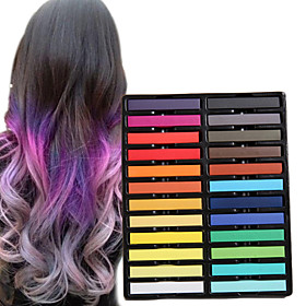 24 Color Temporary Chalk Crayons for Hair Non-toxic Hair Dye Pastels Stick DIY Styling Tools 5176176