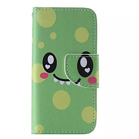 Green Smile Painted PU Phone Case for iphone5SE 4889915