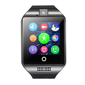 Q18 Smartwatch Android Bluetooth USB Touch Screen Calories Burned Hands-Free Calls Camera Timer Call Reminder Sleep Tracker Sedentary Reminder Find My Device /