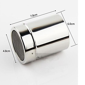 Stainless Steel Mechanical Icing Sugar Sifter Baking Flour Shaker Strainer Sieve 4884328
