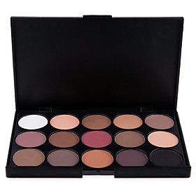 15 Colors Professional 2in1 Natural MatteShimmer Smoky Eyeshadow/Eyebrow Powder Cosmetic Palette(2 Color Choose) 4983848
