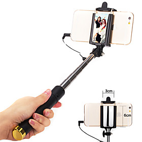 Selfie Stick Wired Extendable Max Length 110cm Universal Android iOS Apple Samsung Galaxy Huawei