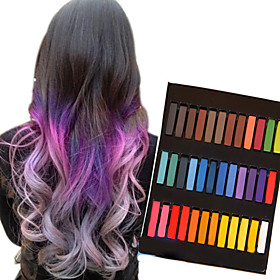 36 Color Temporary Chalk Crayons for Hair Non-toxic Hair Dye Pastels Stick DIY Styling Tools 5176174