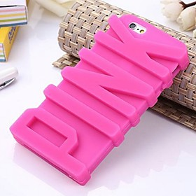 Letter Silicone Phone Case for iphone 6/6S 4889790