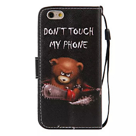 Case For Apple iPhone 6 Plus / iPhone 6 Wallet / Card Holder / with Stand Full Body Cases Word / Phrase Hard PU Leather for iPhone 6s Plus / iPhone 6s / iPhone