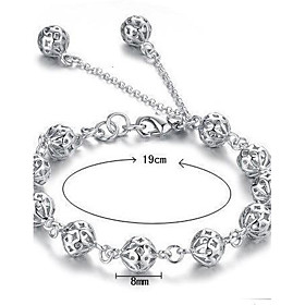 Women's Hollow Out Chain Bracelet Charm Bracelet - Sterling Silver Bracelet White For Christmas Gifts Wedding Party