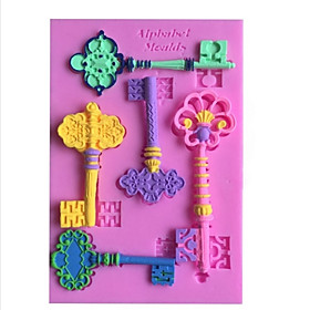 Ou Shigu Metal Key DIY Baking Cups Fondant Cake Chocolate Silicone Mold, Decoration Tools Bakeware 3891875