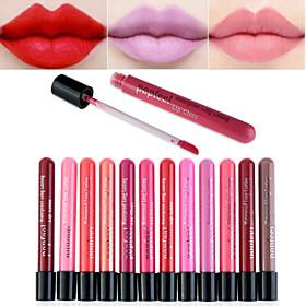 Full-Coverage Long Lasting 24 Hour Not Rub Off Matte Waterproof  liquid Lipstick Lip Gloss(12 Selectable Colors) 4914433