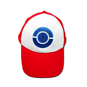 Hat/Cap Inspired by Pocket Monster Ash Ketchum Anime/ Video Games Cosplay Accessories Cap / Hat White / Red Terylene Male 363047