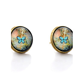 Women's Stud Earrings Earrings Butterfly Animal Ladies Simple Style Jewelry Bronze For Wedding Party Daily Casual
