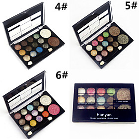 Professional 2in1 12 Glitter Shimmer Color Eyeshadow2 Blush Neutral Nude Eye Shadow Cosmetic Makeup Palette Set 4895057