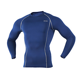 ARSUXEO Cycling Base Layer Men's Long Sleeve BikeBreathable / Thermal / Warm / Quick Dry / Lightweight Materials / Limits Bacteria / 4912892