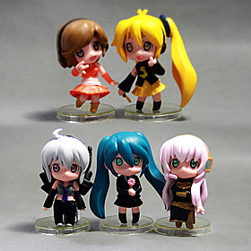 Lovely Hatsune Miku 5 PCS  Model Doll Toys Sets Anime(PP Bag Packaging) 4880423