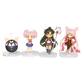 Sailor Moon Anime Action Figure 8CM Model Toy Doll Toy(4 Pcs) 4932460