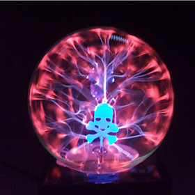 Magic Glass Plasma Ball Sphere Skull 4-Inch Electronic Magic Ball Creative Crafts Ornaments Birthday Gift for Kids 4916276