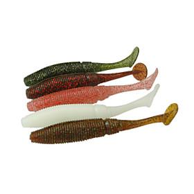 10cm/8g Soft Bait Fishing Lures Soft Bait with Salt 6pcs/bag Color Random 4907792