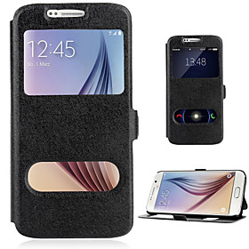 Hot Selling Leather Cover With Double Window Style For Samsung Galaxy S3/S4/S5/S6/S6 Edge/S6 Edge /S7/S7 Edge Cases 4885228
