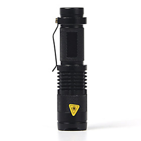 SK68 LED Flashlights / Torch LED Cree XR-E Q5 1 Emitters 2000 lm 1 Mode Zoomable Waterproof Adjustable Focus Camping / Hiking / Caving Everyday Use Police / M