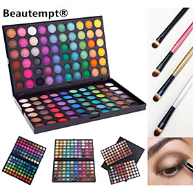 120 Colors Professional Dazzling MatteShimmer 3in1 Eyeshadow Makeup Cosmetic Palette with 4 Brush(3 Color Choose) 4914417